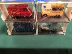 4x Oxford Diecast Models All On Display Boxes, Comprising Of; #CA019 Rare Luchinis Bedford CA Ice