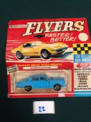 Lone Star Flyers Diecast Model #117 Mercedes-Benz 220SE In Blue With A White Interior Bubble Card