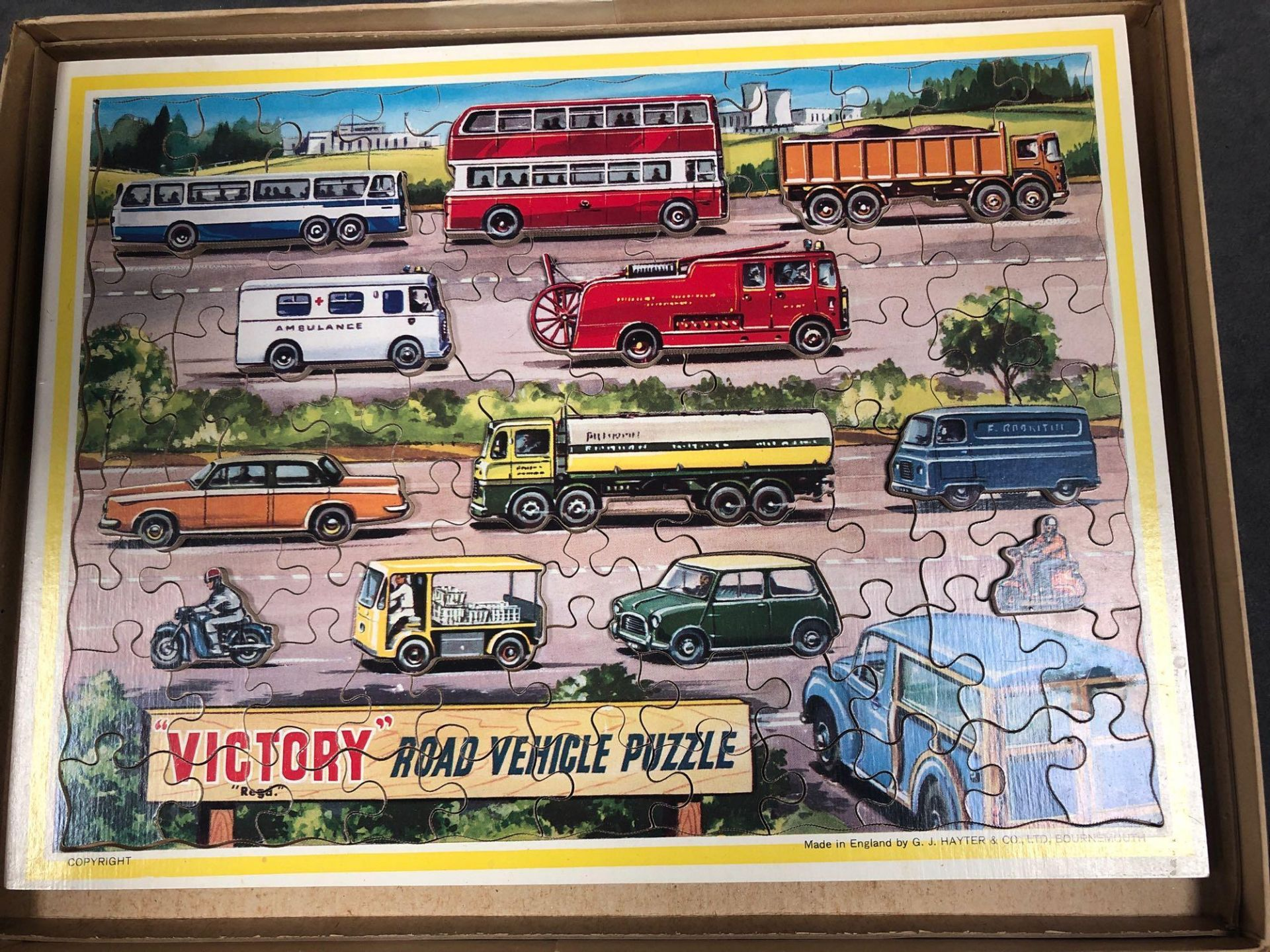 "Lotto 1117 - The Victory ""Road Vehicle Puzzle"". To The 1960s Now, But Still Produced In Wood, Another Example"