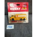 Husky Models Diecast #14 Guy Warrior Tank With Shell Livery On Bubble Card
