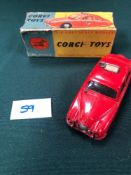 Corgi Toys Diecast #213 24 Jaguar Fire Service Car In A Poor Box With (No End Flaps Or Tabs)