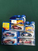 5x Hot Wheels Diecast Vehicles - On Unopened Card, Comprising Of; Chrysler Pronto, 3 Window 1934, El