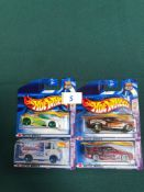 4x Hot Wheels Diecast Vehicles - On Unopened Card, Comprising Of; #1/5 Chevelle SS 1970, #3/5 SS
