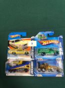 4x Hot Wheels HW City Works Diecast Vehicles - On Unopened Card, Comprising Of; Custom 66 GTO Wagon,