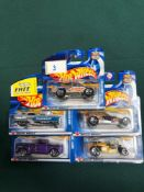 5x Hot Wheels Highway 35 Diecast Vehicles - On Unopened Card, Comprising Of; Enforcer, Altered