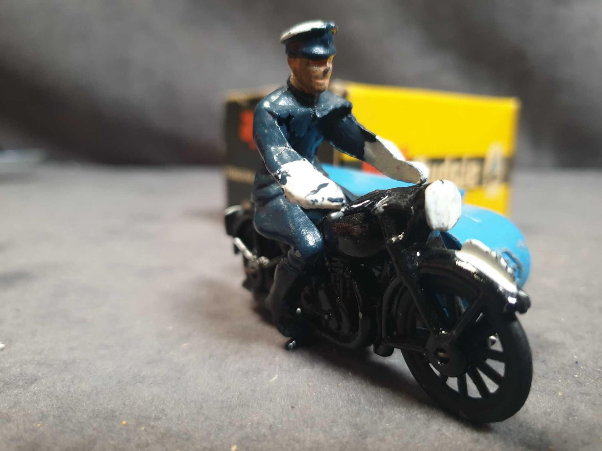 Virtually Mint Budgie Toys England #454 RAC Motorcycle Patrol Diecast;In Excellent Firm Box (Tiny - Image 2 of 5
