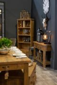 Shoreditch Collection One Drawer Lamp Table Rustic, Auntic And Warm Just A Few Words That Spring To