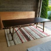 Timothy Oulton Tarmac Asmara Ebony/Vintage Bronze Dining Table  Rich and smooth, this Tarmac