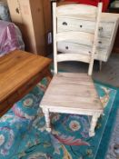 A Pair of Farmhouse Dining Chair A Rustic Take On The Traditional Ladder-Back Dining Chair, This