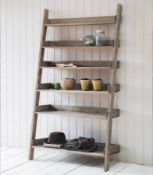 Five Shelf Ladder Display Black Create an inspired space As an alternative to a traditional