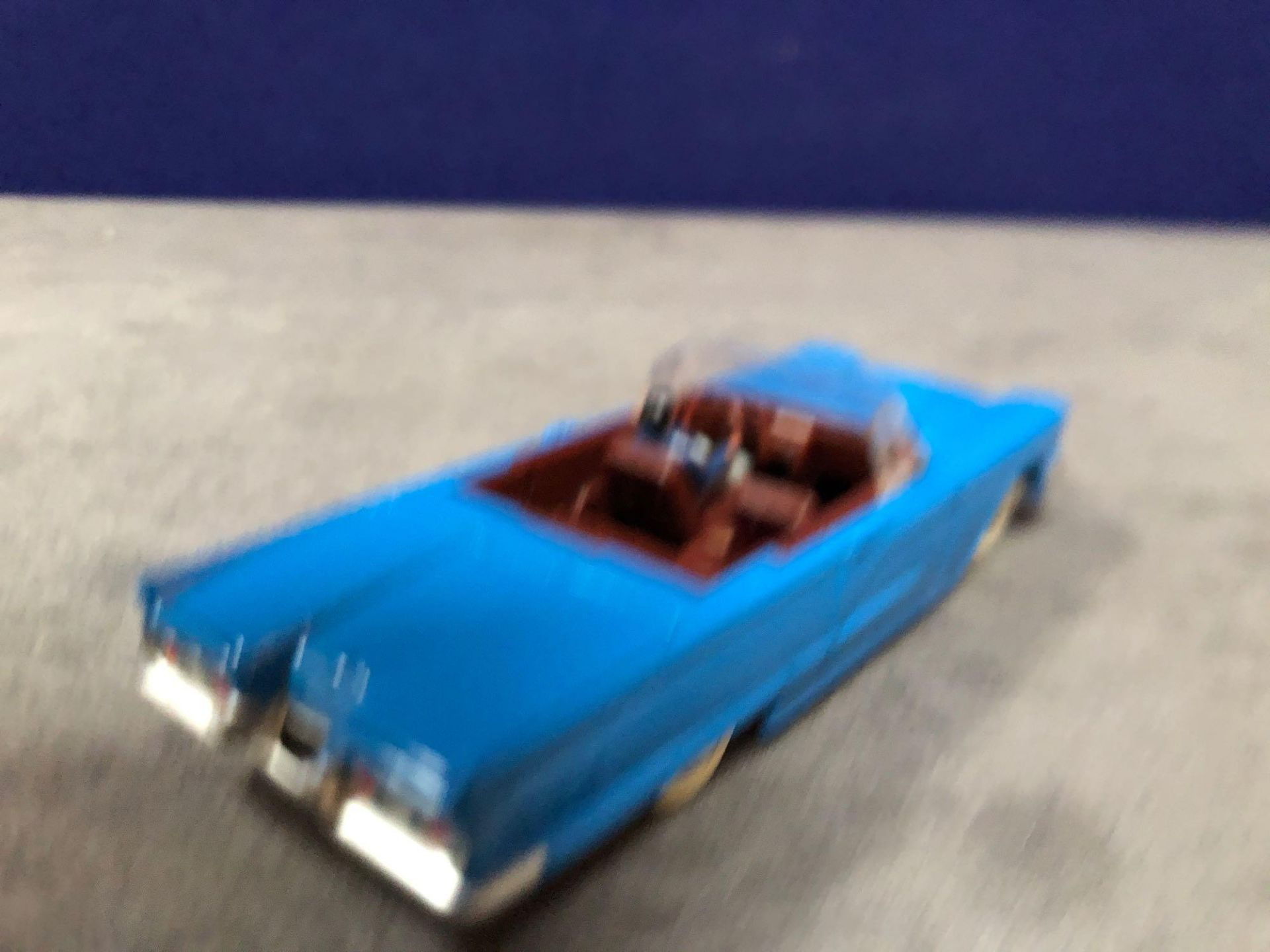 Dinky (Norev Edition) Diecast #555 Ford Thunderbird In Blue mint in box - Image 3 of 3