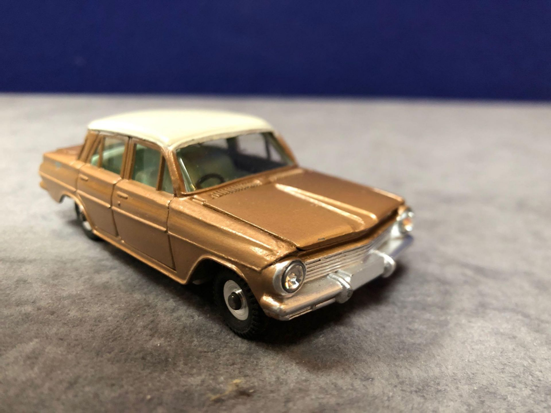 Dinky #196 Holden Special Sedan Bronze/White Or Turquoise/White - Jewelled Headlights (No - Image 2 of 4