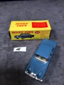 Dinky #186 Mercedes-Benz 220 SE Blue - Petrol Blue Body With White Interior. Spun Hubs. Mint in