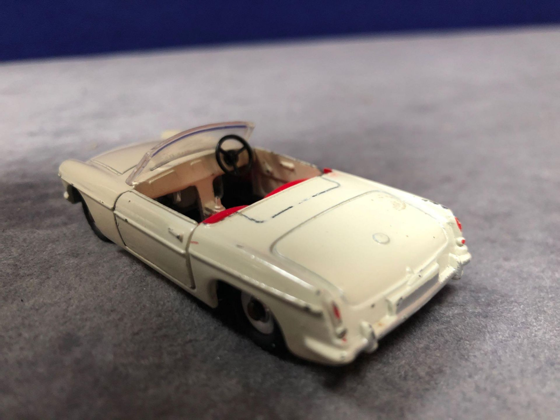 Dinky 113 MGB Cream Red Interior 1962-1968 Unboxed missing driver very good model some wear but - Image 3 of 4
