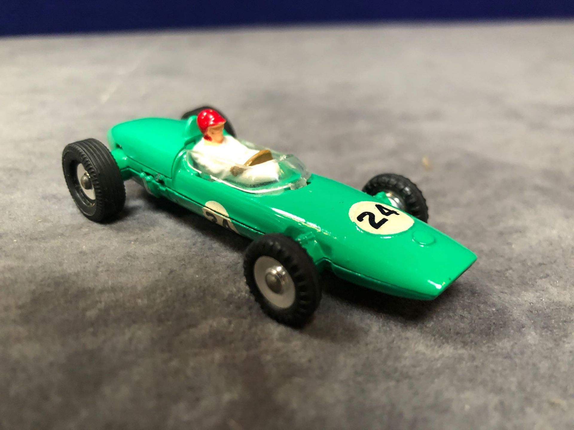 Dinky #241 Lotus Racing Car Green - White Driver With Red Helmet. RN #24 mint in firm box 1962-1970 - Image 2 of 4