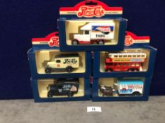 5x Lledo Diecast Pepsi Cola Advertising Vehicles Each One Boxed.