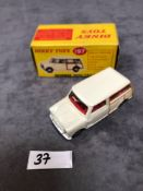 Dinky #197 Morris Mini Traveller Cream - Cream Body, Tan Woodwork And Red Interior. Mint in