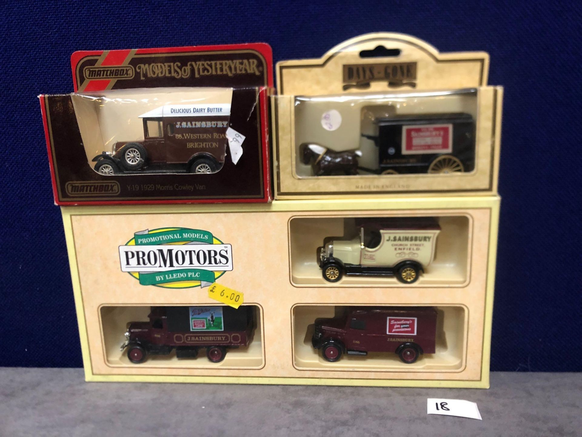 1x Pro Movers Set And 2x Individual Sainsbury's Diecast Vehicles In Own Boxes