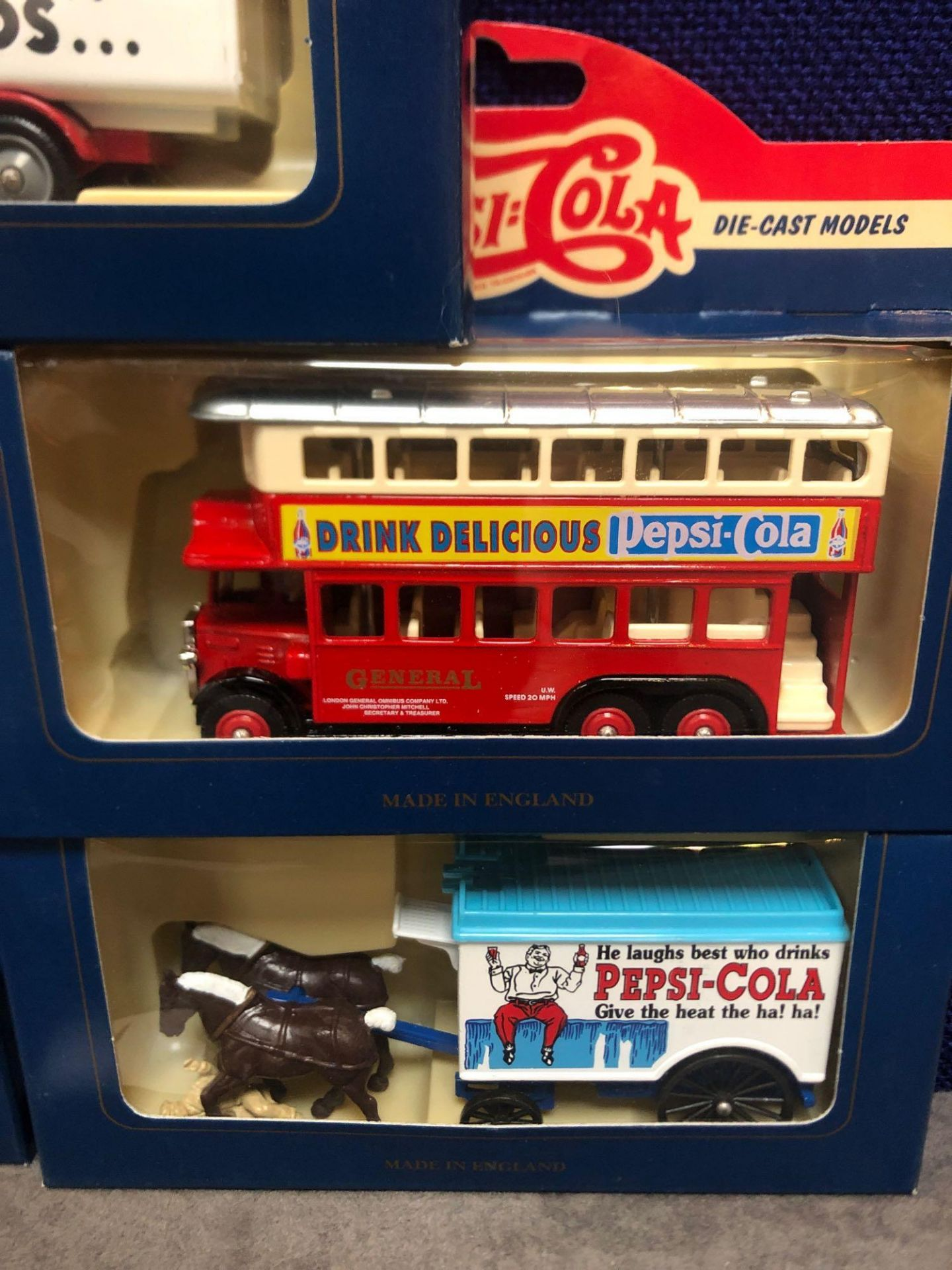 5x Lledo Diecast Pepsi Cola Advertising Vehicles Each One Boxed. - Image 2 of 4