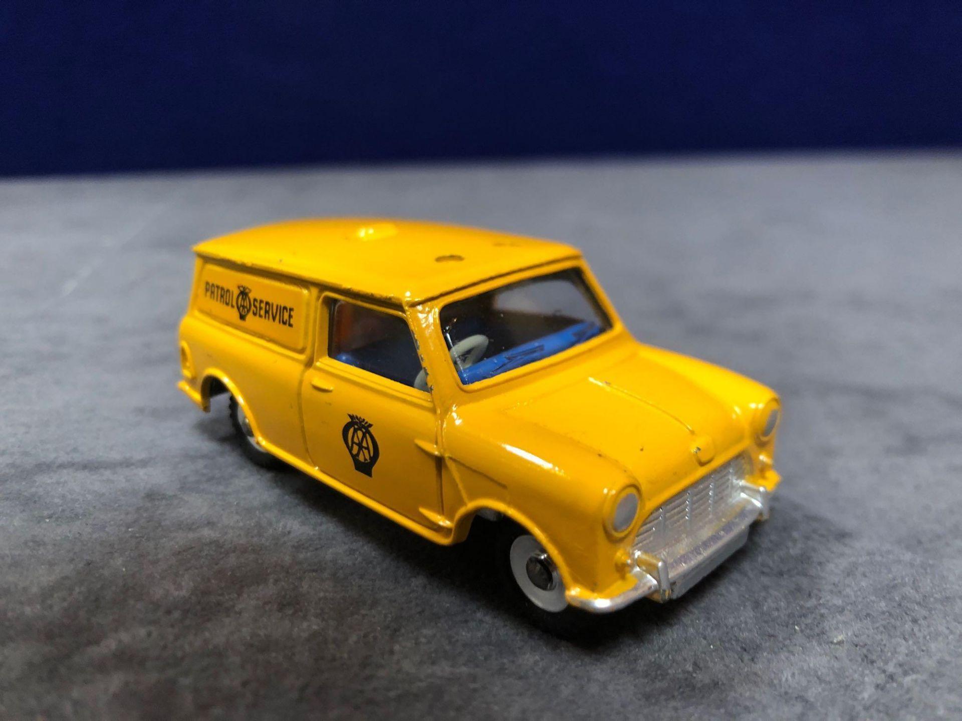 Dinky #274 AA Patrol Mini Van Yellow (AA Service) - Yellow Body And White Roof. AA Service To Van - Image 2 of 4