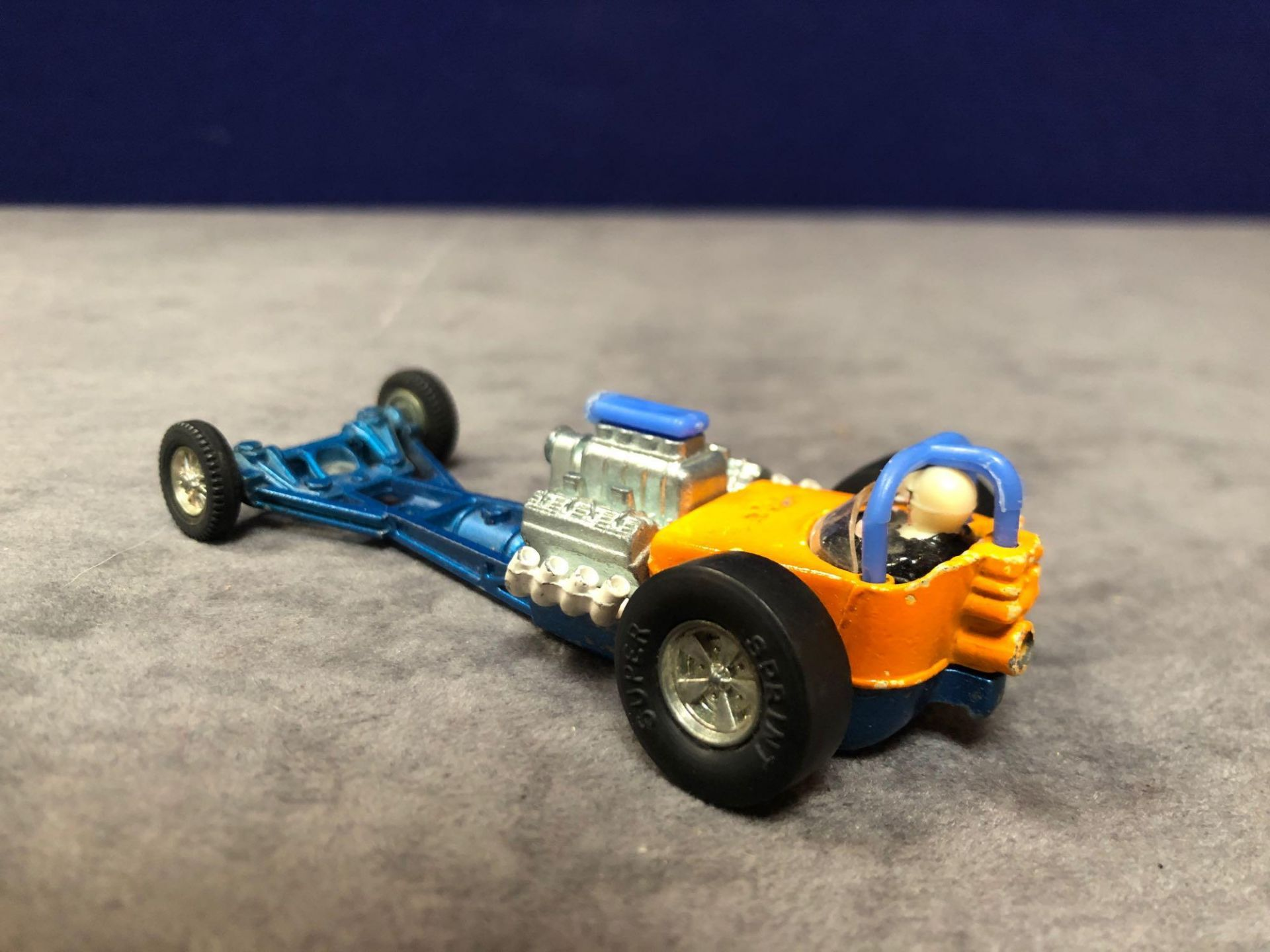 Dinky #228 Super Sprinter Blue And Orange - Exposed Engine And Speed Wheels. Very god model in a - Image 3 of 4