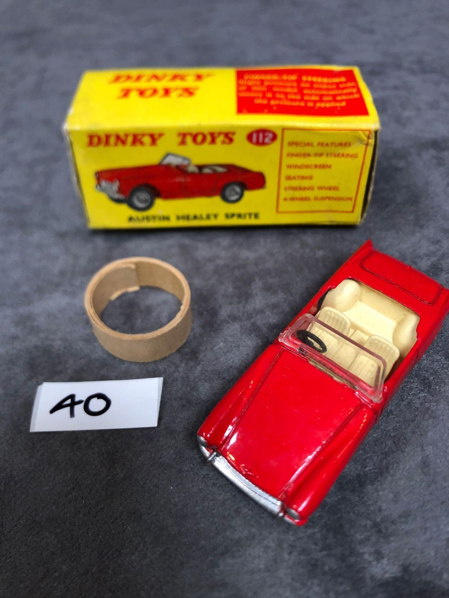 Dinky #112 Austin Sprint In Red With Inner Packaging mint in excellent box 1965-1970
