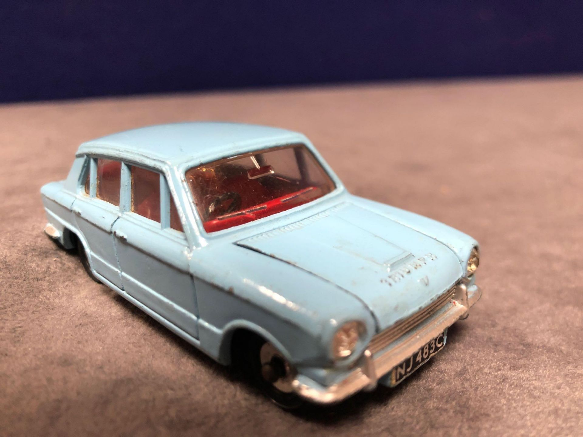 Dinky #162 Triumph 1300 Blue - Red Interior, Spun Hubs And Number Plates 1966 - 1969 Unboxed very - Image 2 of 4