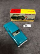 Dinky (France) Diecast #538 Ford Taunus 12 M Cream Interior And Concave Hubs. In Turquoise mint in a