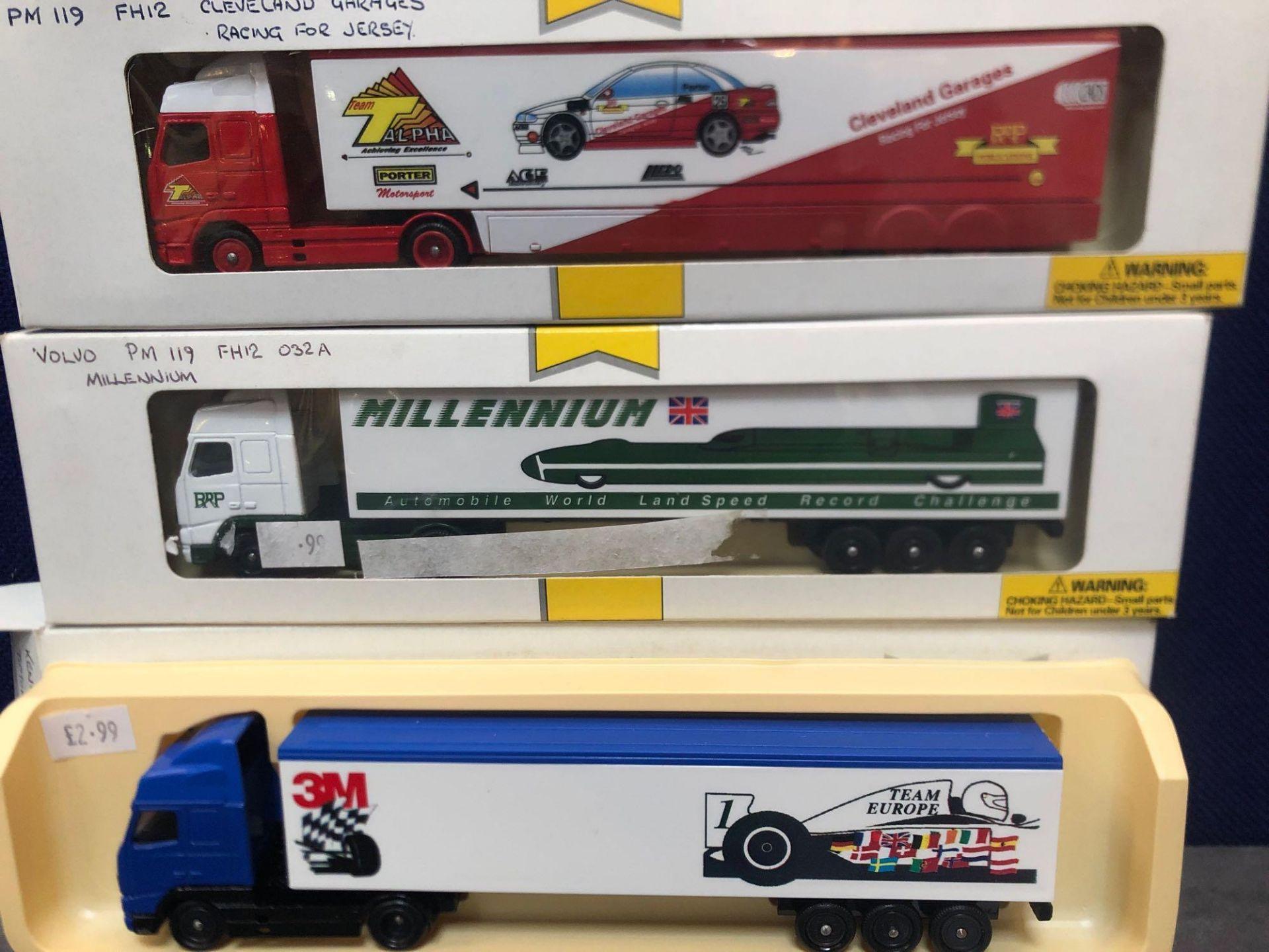 3x Lledo Pro Mover Diecast Trucks Comprising Of; 3M Team Europe, Millennium Automotive World Land - Image 2 of 2