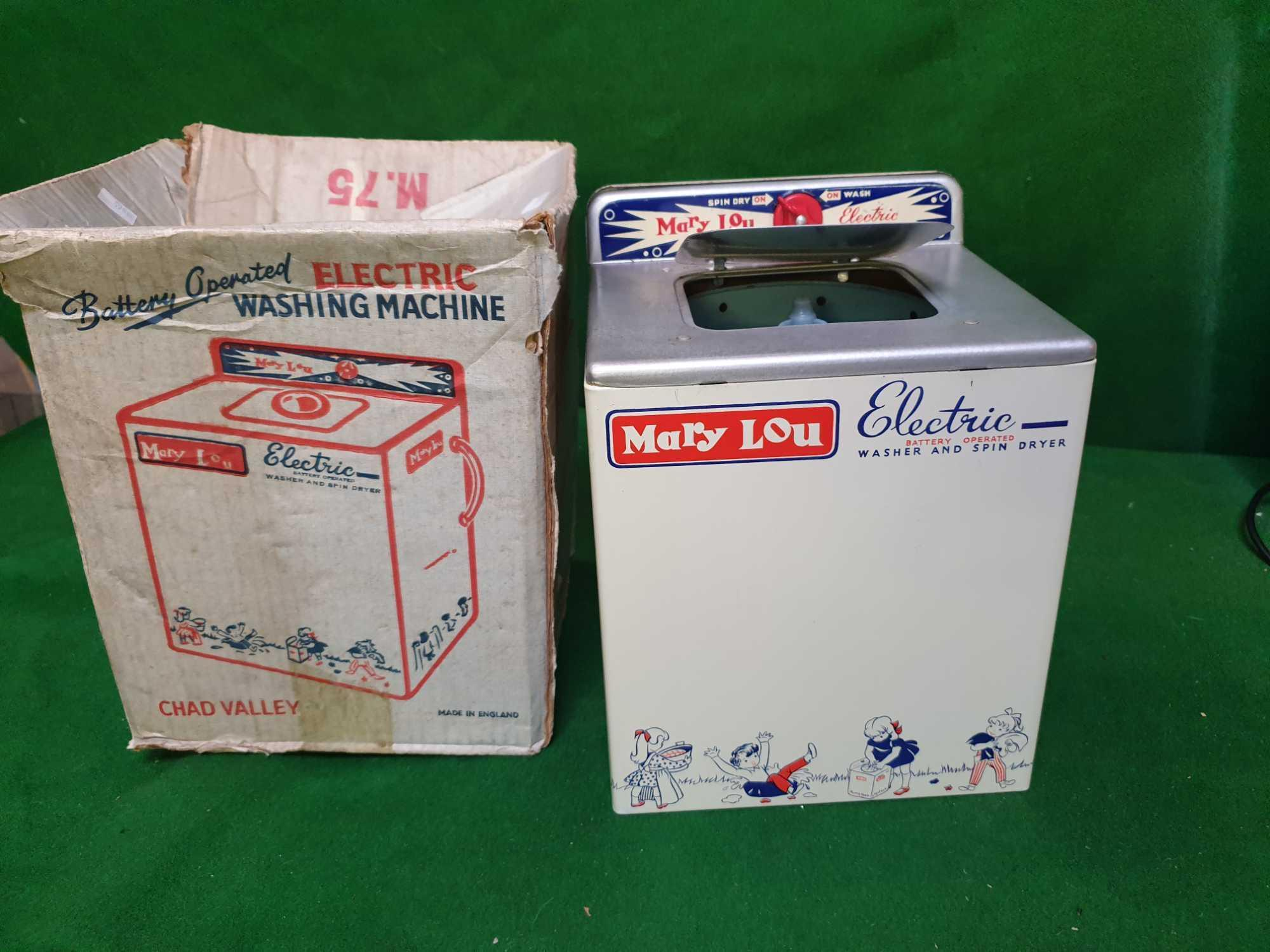 2 X Domestic Toys Comprising Of Chad Valley Mary Lou Electric Vintage Metal Toy Washing Machine With - Image 3 of 3