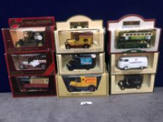 9x Diecast Vehicles All Advertising Drinks In Separate Boxes.