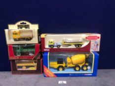 5x Variety Of Construction Vehicles, All With Boxes.