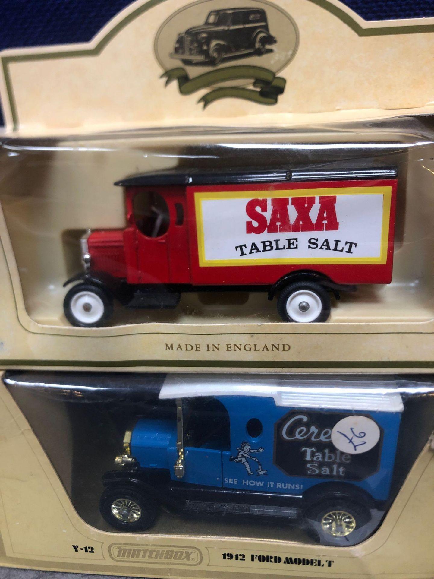 4x Diecast Vehicles Advertising Kleenex, Saxa Table Salt, Tate And Lyle Sugar, Cerelos Table Salt. - Image 3 of 3