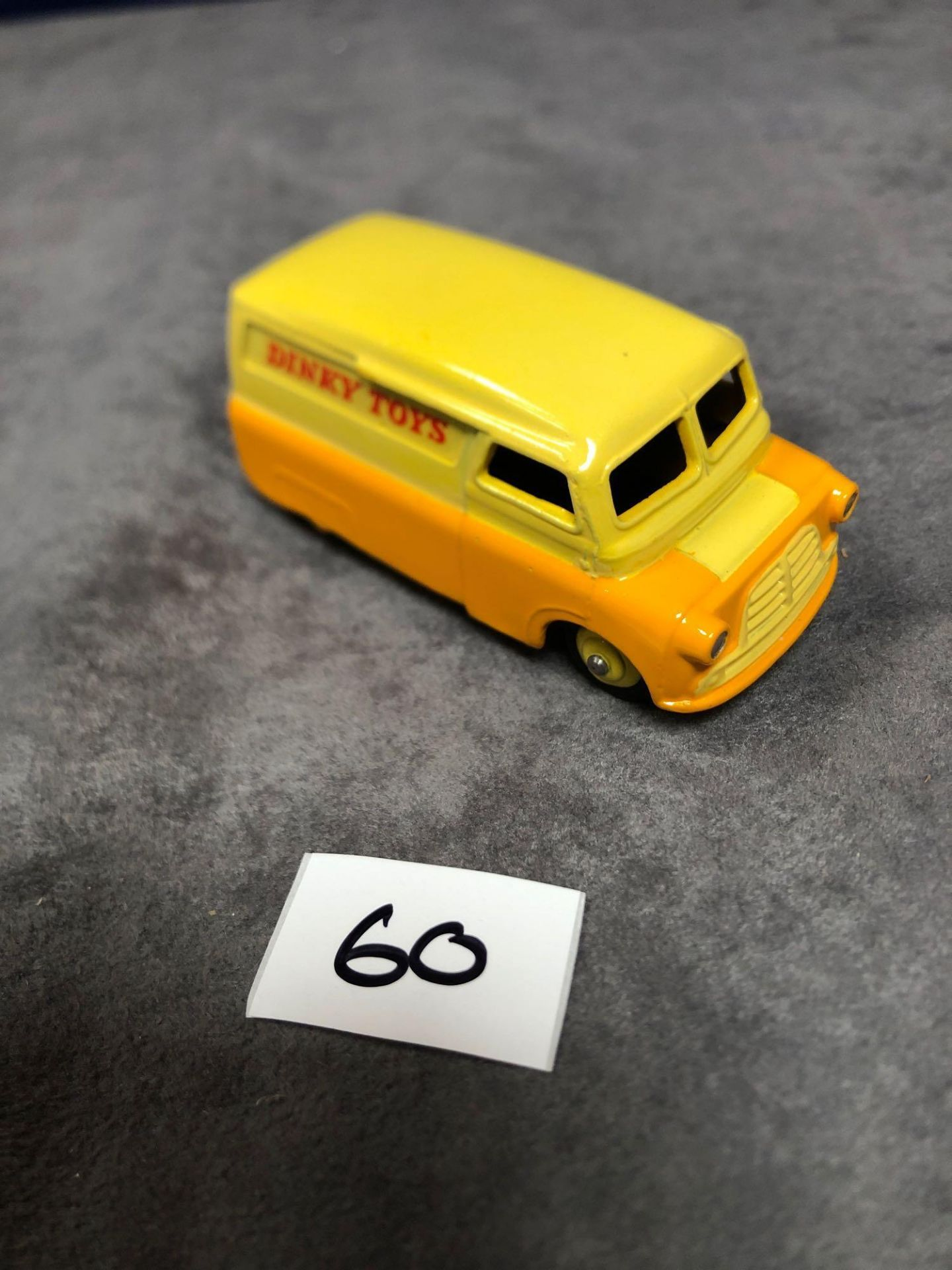 Dinky #482 Bedford Van Yellow/Orange (Dinky Toys) - Yellow Wheels and Silver Trim. 1956 - 1960