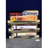 3x Lledo Cargo King Diecast Trucks Comprising Of; LLEDO CARGO KINGS CK1002, Volvo FH12 Articulated