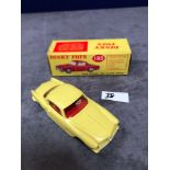 Dinky #185 Alfa Romeo 1900 Super Sprint Yellow - Red Interior Virtually mint (4 tiny box chips) in a