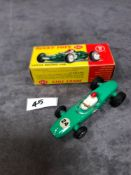 Dinky #241 Lotus Racing Car Green - White Driver With Red Helmet. RN #24 mint in firm box 1962-1970