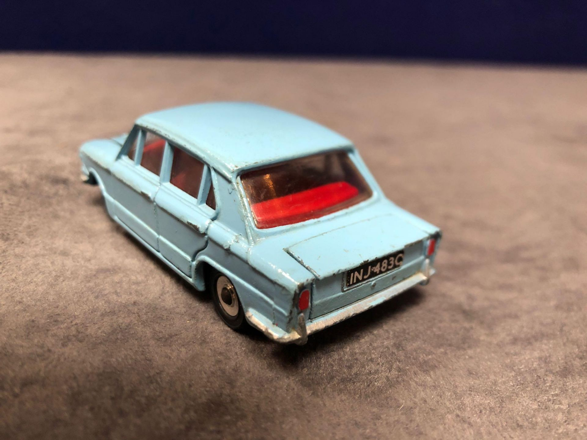 Dinky #162 Triumph 1300 Blue - Red Interior, Spun Hubs And Number Plates 1966 - 1969 Unboxed very - Image 3 of 4