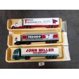 3x Lledo Pro Movers Diecast Trucks Comprising Of; John Miller Transport, Ferodo, Tipton Transport