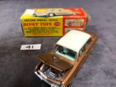 Dinky #196 Holden Special Sedan Bronze/White Or Turquoise/White - Jewelled Headlights (No