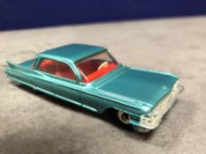 Dinky #147 Cadillac 62 Metallic Green - Red Interior And Spun Hubs 1962-1969. Unboxed Mint Lovely