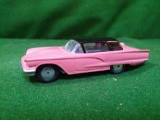 Corgi #214m Ford Thunderbird Pink/Black - Flywheel Motor 1958 - 1959 Unboxed Very Nice Repaint