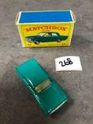 Matchbox Lesney #33b Ford Zephyr 6 Sea Green - Black Plastic Wheels Mint In Firm Type E Box