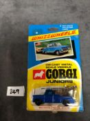 Corgi Juniors #28, Ford Breakdown Truck Mint on excellent opened bubble card
