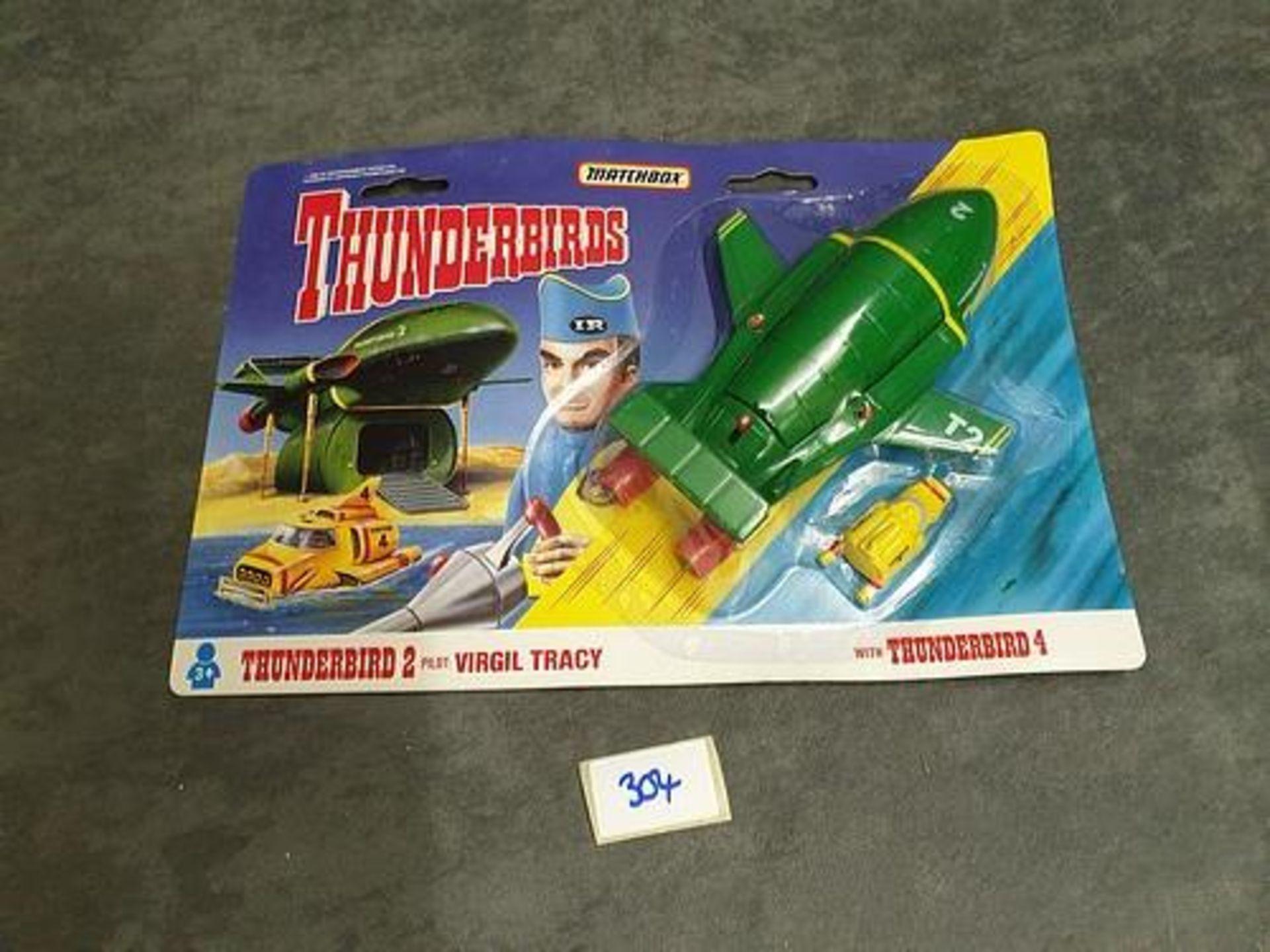 Matchbox Thunderbirds #TB-002 Virgil Tracy's Thunderbird 2 On Unopened Card