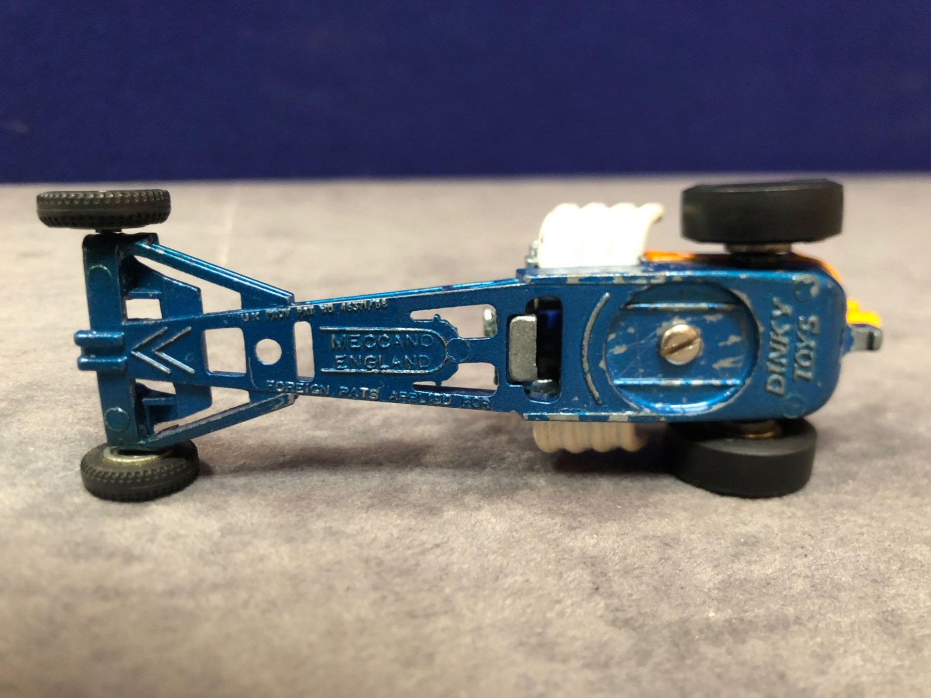 Dinky #228 Super Sprinter Blue And Orange - Exposed Engine And Speed Wheels. Very God Model In A - Image 4 of 4