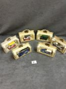 6x Lledo Diecast Vehicles Individually Boxed Advertising Unifix / Panelcraft / Duerr's / Finnigan'