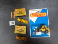 3 X Matchbox Diecast Vehicles Comprising Of 2 X #Matchbox 24a Weatherill Hydraulic Excavator (One In