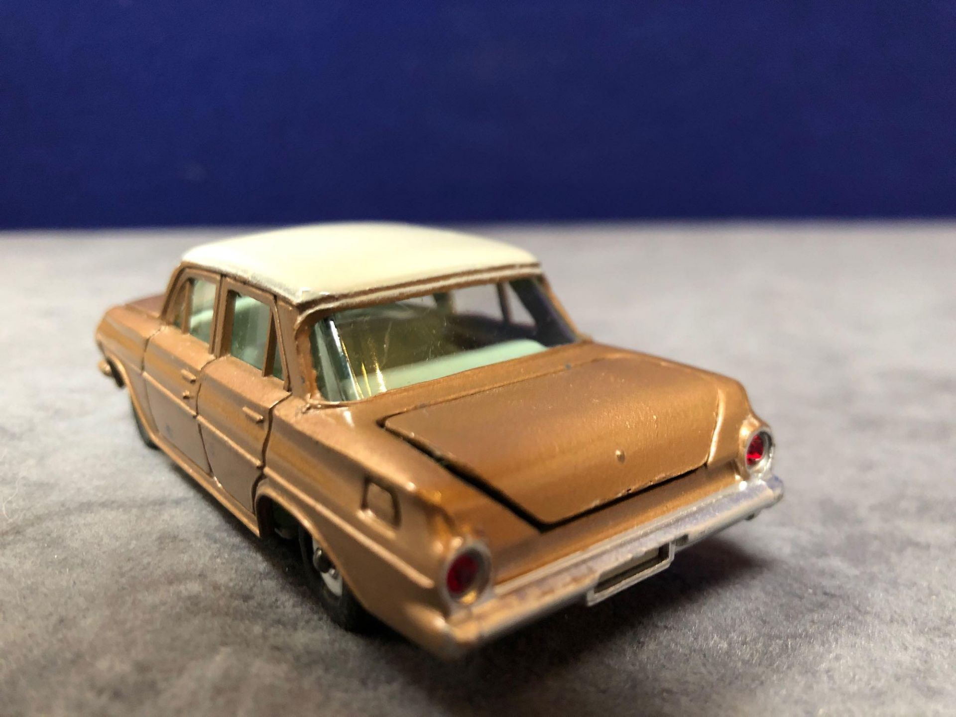 Dinky #196 Holden Special Sedan Bronze/White Or Turquoise/White - Jewelled Headlights (No - Image 3 of 4