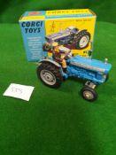 Corgi #67 Ford 5000 Super Major Tractor With Box 1968-1971 Mint Model In Mint Box